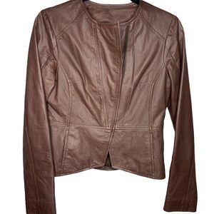 B.B. Dakota vegan leather jacket Small Brown